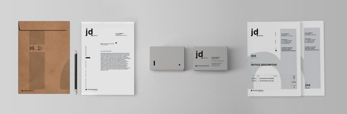 Création charte graphique de l'agence JD architecture