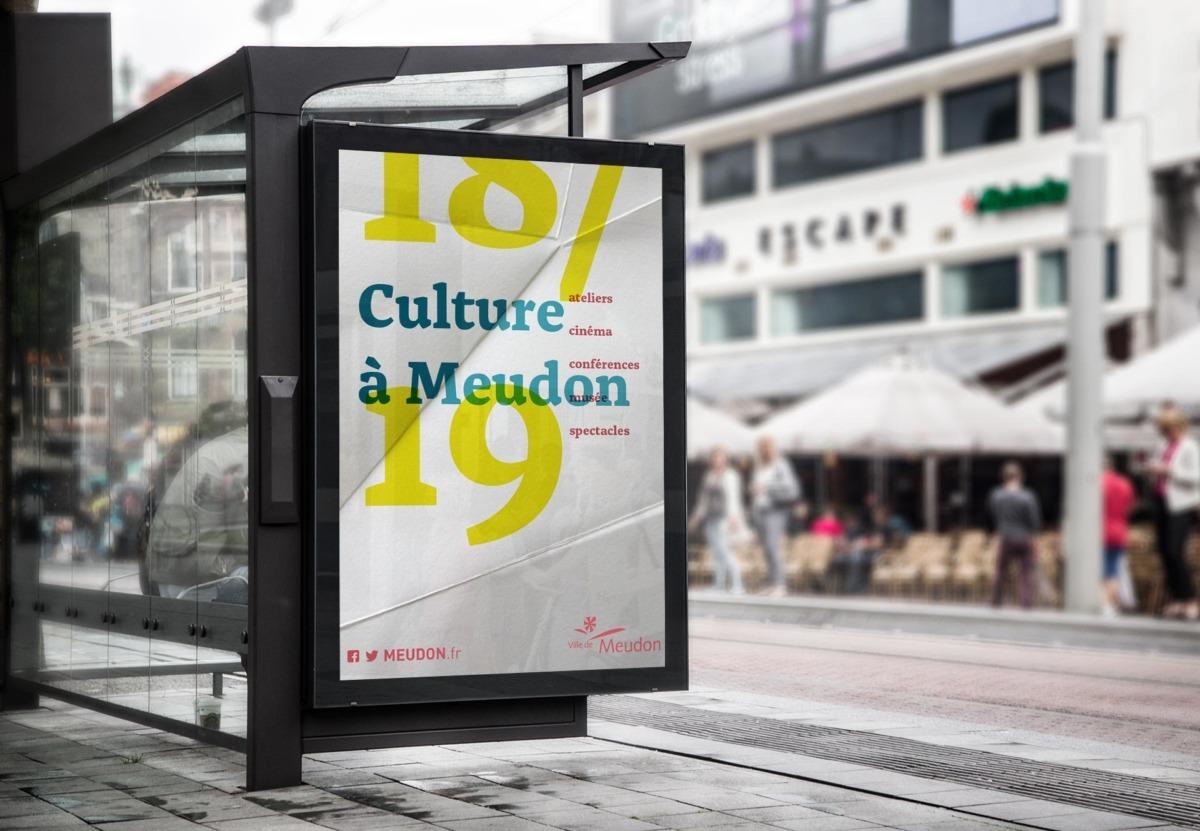Affiche In situ de la saison culturelle de Meudon - Hauts de Seine