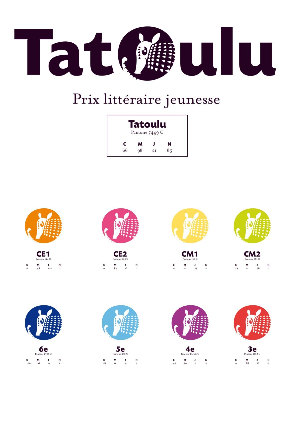 Création du logo Tatoulu - prix littéraire- Bretagne - France