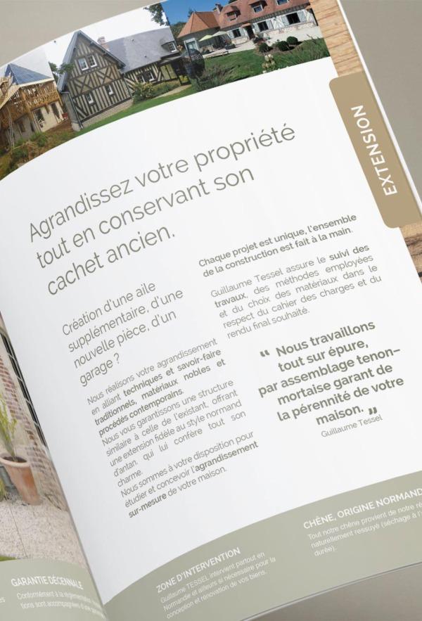 Conception brochure pour l'entreprise TESSEL