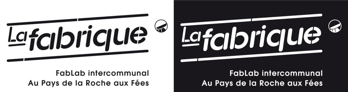 Logo de la Fabrique - FABLAB - noir et blanc