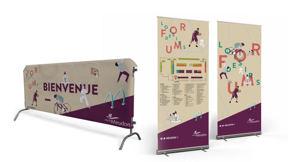Supports de communication du forum des associations - ville de Meudon - Hauts de Seine