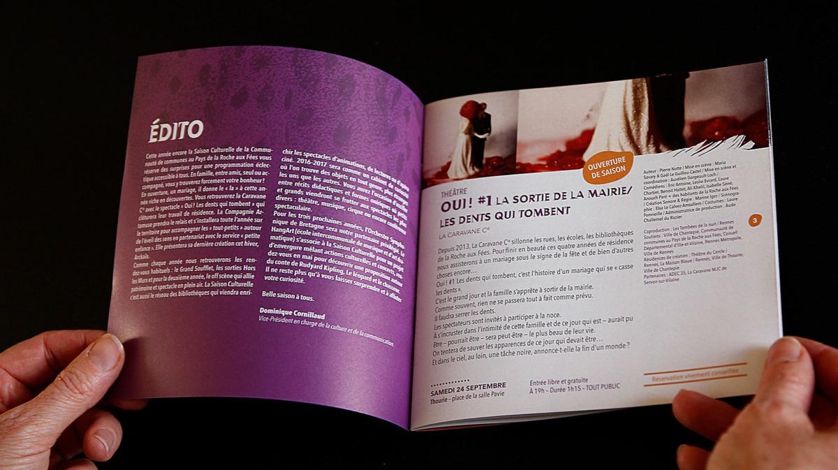 Pages intérieures - Brochure Saison culturelle CCPRF telegraphie