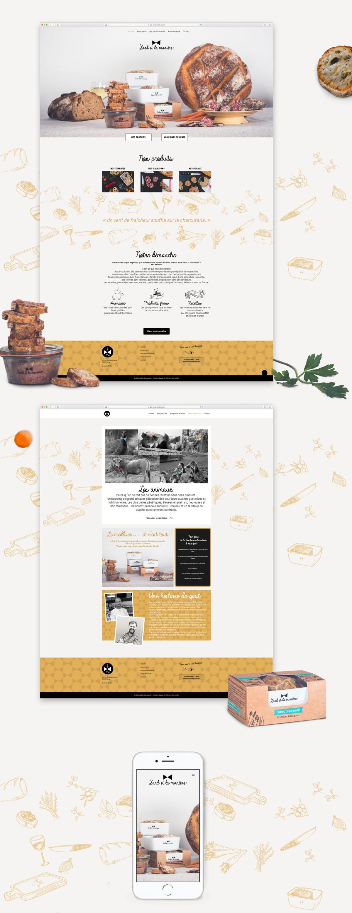Design du site de lard et la manière - Paris